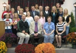 Olavi & Olga (Davis) Orpana with their 5 children & 11 grandchildren at 50th wedding anniv., 2006 (6th, 7th & 8th genera