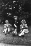 Eda (Davis) Granter with grandchildren Harry and Marie