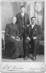 Rebecca (Gill) Davis and her sons J. Cator (standing) & George circa 1890.