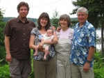 Tim & Laura (dughter of Arlen) Kyle, baby Peter and Sherry & Arlen Davis - son of Thomas A Davi