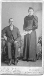 Esau and Sarah Elizabeth (nee Young) Davis taken at St. Johns shortly after their wedding in 1895