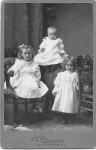 Esau and Sarah Davis' three daughters, Winnifred, Gertrude and Grace taken in New Westminster, ca. 1904