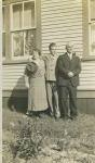 Charlotte Davis (daughter of Peter Davis & Lucy Hounsell) and John Laite with their son Berkley in Wesleyville [date unk