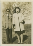 Calvin & Maysie Noseworthy (son & daughter of Mary Hannah Davis and Eli Noseworthy) in Brooklyn, NY ca. 1948