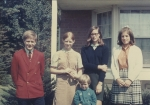 Bob, Leslie, Pam, Nancy, and Vicky Wisnom (grandchildren of Mary Hannah Davis) Moon Township, PA 1968
