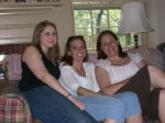 Tracy Dawson, Jessica Mueller, and Jennifer Stuever (great-granddaughters of Mary Hannah Davis & Eli Noseworthy) - May 2