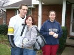 Michael & Natalie Stuever, Jennifer Stuever (great-grandchildren of Mary Hannah Davis) - Dec. 2007