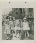 Leslie, Nancy, Robert, and Vicky Wisnom (grandchildren of Mary Hannah Davis) - ca. 1956